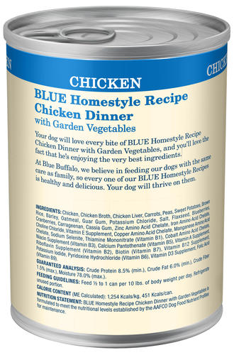 Blue Homestyle Recipe All Breed Adult Chicken Dinner With