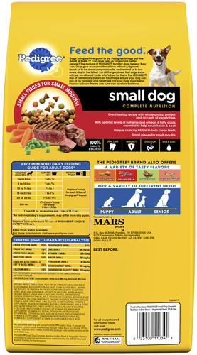 Pedigree Complete Nutrition Grilled Steak Vegetable Small Dry Dog Food 3 5 Lbs At Menards