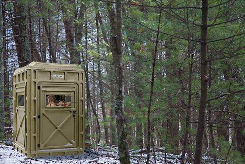 K Amp L Guidesman Permanent Hunting Blind Northwoods