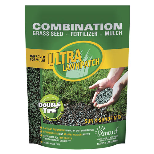 Amturf ultra lawn patch sun and shade mix.