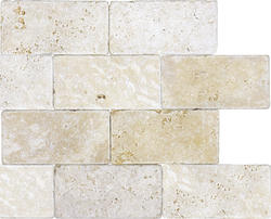Ellis Fisher 3 X 6 Avorio Travertine Floor And Wall Tile