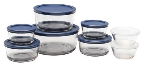 Anchor Hocking® 16-Piece Glass Food Storage Set at Menards®