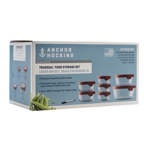 Anchor Hocking 15pc Trueseal Glass Food Storage Set At Menards