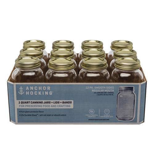 e2397590927 Anchor Hocking® Quart Size Regular Mouth Canning Jars - 12pk at Menards®