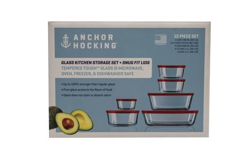 Anchor Hocking Glass Kitchen Storage Set 12 Piece At Menards