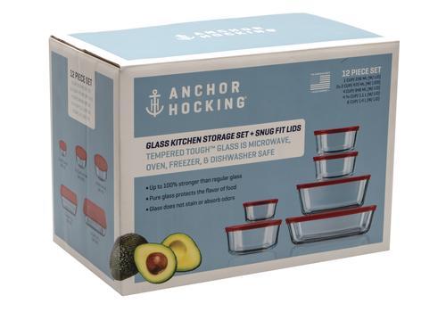 Anchor Hocking Glass Container Food Storage 12 Piece Set At Menards