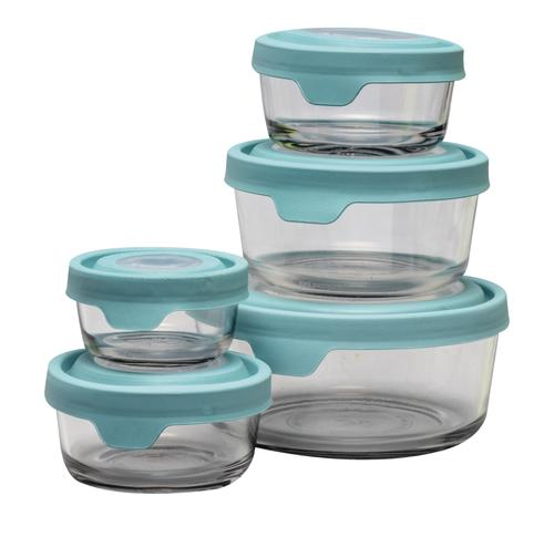7f700c39c0a5 Anchor Hocking TrueSeal® Food Storage with Mineral Blue Lids - 10 ...
