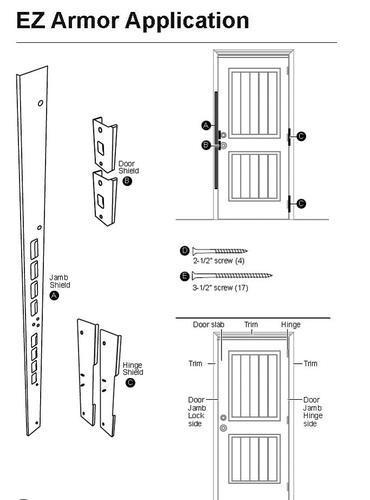 sc 1 st  Menards & Exterior Door Armor MAX White Combo Door Security Set at Menards®