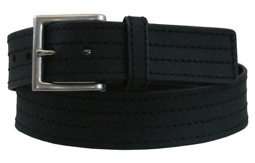 """Smith's Workwear® 34"""" Men's Perforated Stitched Leather Belt - Black"""