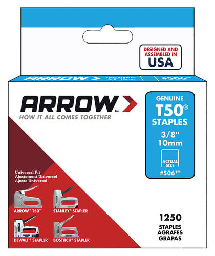 Arrow T50 3 8 Leg X 3 8 Crown Heavy Duty Staples 1 250 Count At Menards