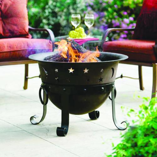 Backyard Creations 29 Celestial Cast Iron Fire Bowl At