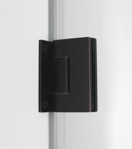 "Aston Bromley 64"" x 36"" x 72""H Oil Rubbed Bronze Frameless Hinged Corner Shower Enclosure with Clear Glass"