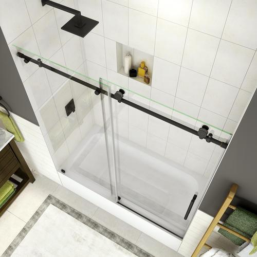 Frameless Sliding Tub Shower Door