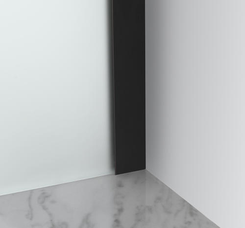 "Aston Belmore 28""W x 72""H Oil Rubbed Bronze Frameless Hinged Shower Door with Frosted Glass"