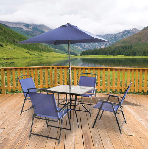 Backyard Creations™ Folding 6 Piece Square Dining Patio Set At Menards®