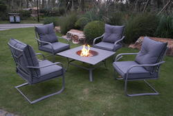 Backyard Creations® Knightdale Collection 5-Piece Fire Patio Set & Patio Furniture Collections at Menards®