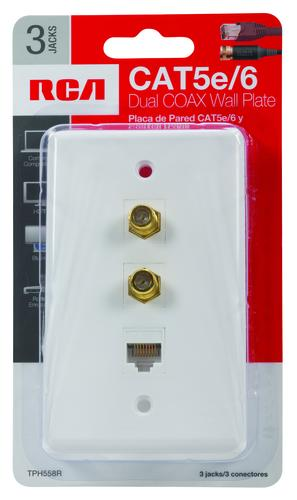 Swell Rca White Dual Coaxial Single Cat5 6 Wall Plate At Menards Wiring 101 Swasaxxcnl