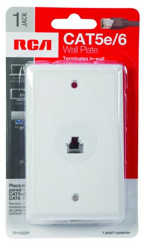 rca white rj45 wall plate at menards. Black Bedroom Furniture Sets. Home Design Ideas