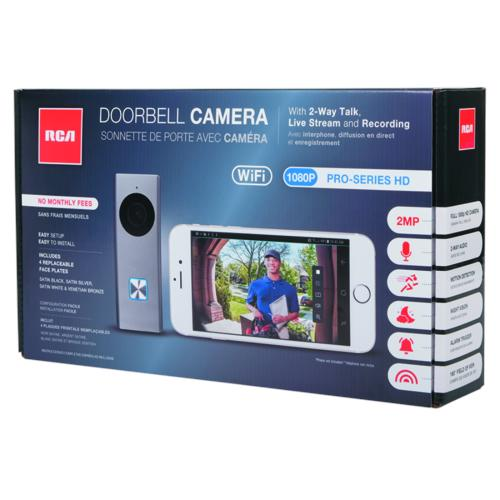 RCA Doorbell Camera with 2-Way Audio, Live Stream and