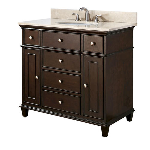 "Custom Bathroom Vanities Newcastle azzuri chocolate newcastle 37-5/8""w x 22d"" vanity with galala"