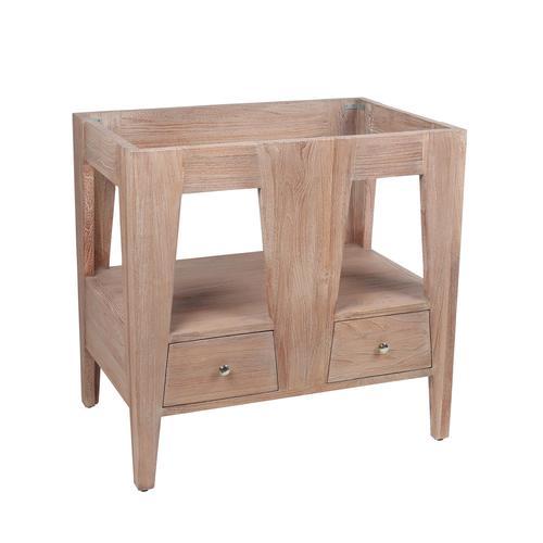 Pleasing Avanity Jameston 32W X 21 1 2D Rustic Teak Bathroom Vanity Beatyapartments Chair Design Images Beatyapartmentscom