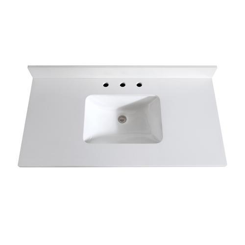 Avanity 43 W X 22 D Quartz Vanity Top With Rectangular Undermount Bowl At Menards