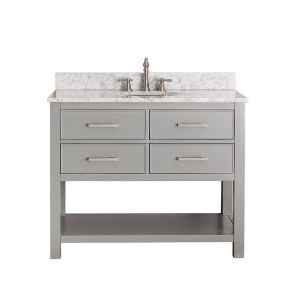 Avanity Brooks 42 W X 21 1 2 D Chilled Gray Bathroom Vanity Cabinet At Menards