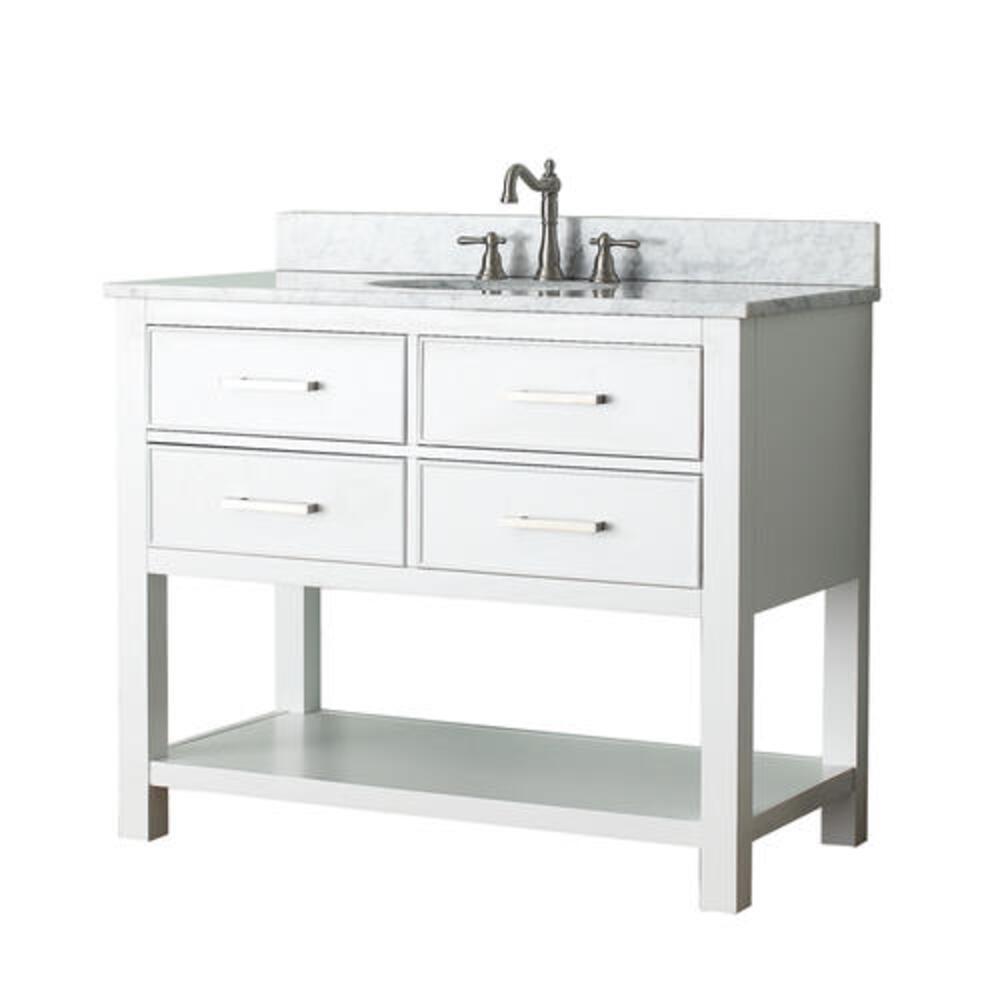 Avanity Brooks 42 W X 21 1 2 D White Bathroom Vanity Cabinet At Menards