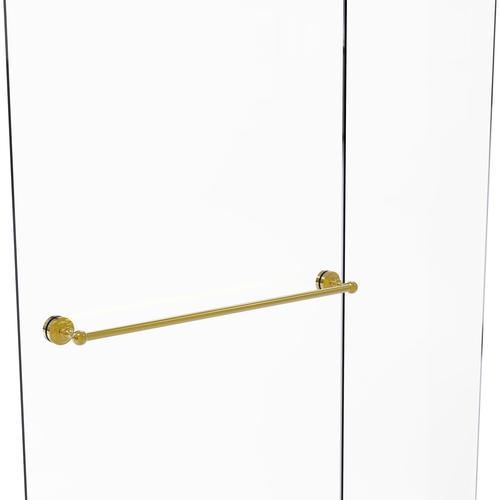 "Allied Brass Dottingham Collection 30"" Polished Brass Shower Door Towel Bar"