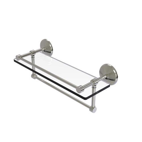 Allied Brass Monte Carlo Gallery Glass Bathroom Shelf W Towel Bar At Menards