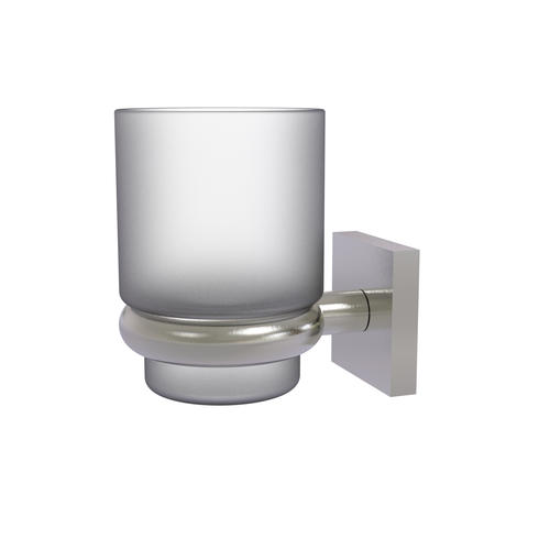 Allied Brass Montero Collection Satin Nickel Wall-Mounted Tumbler Holder