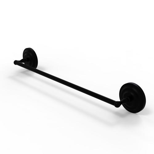 "Allied Brass 30"" Matte Black Towel Bar"