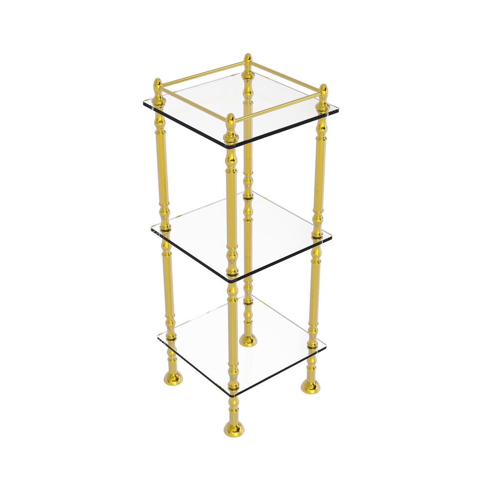 Allied Brass 14 X 3 Tier Etagere Bathroom Shelves At Menards