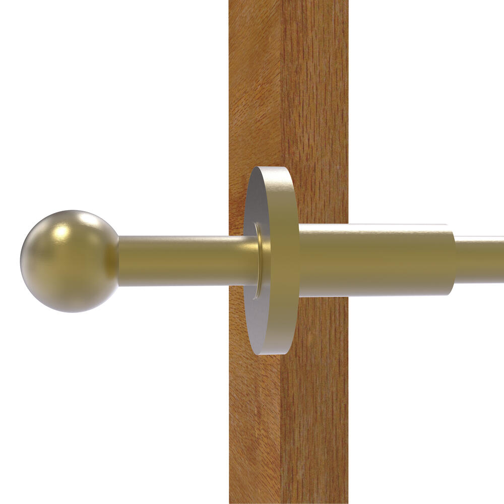 Allied Brass Traditional Retractable Pullout Garment Rod 10-Inch Polished Brass