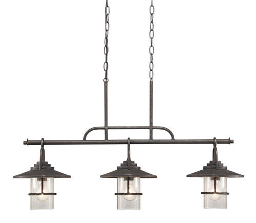 patriot lighting® elegant home 3-light miner bronze island light