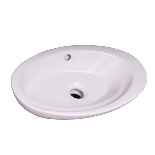 Barclay Infinity 22 W X 13 D White Oval Drop In Bathroom Sink No Faucet Holes At Menards