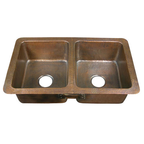 . Barclay 34  Double Bowl Copper Drop In Kitchen Sink at Menards