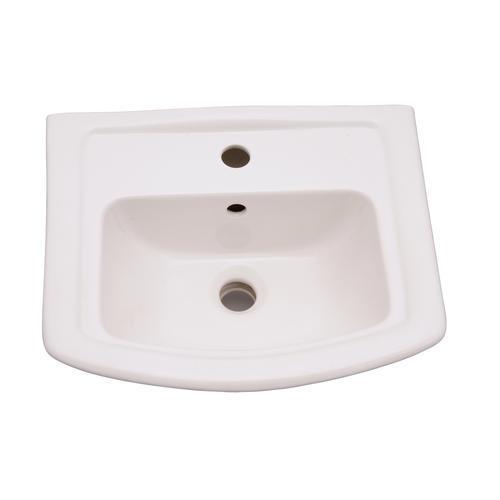Barclay Washington 460 Pedestal Bathroom Sink Basin One Hole White