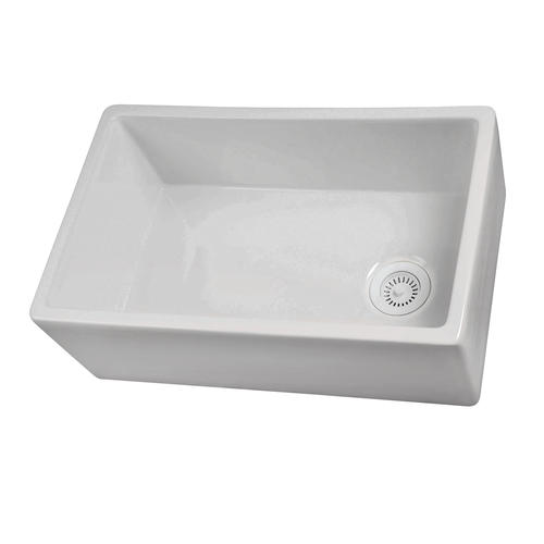Barclay Farmhouse A Front 30 Fireclay Single Bowl Kitchen Sink