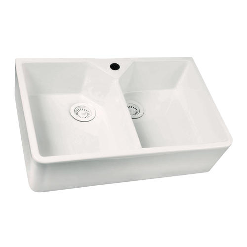 Barclay Farmhouse A Front 31 1 2 Fireclay Double Bowl Kitchen Sink