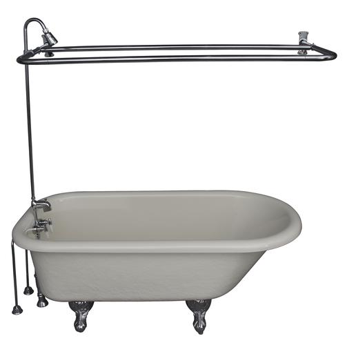 Barclay Tub Kit 60 Quot Acrylic Roll Top Tub In Bisque With