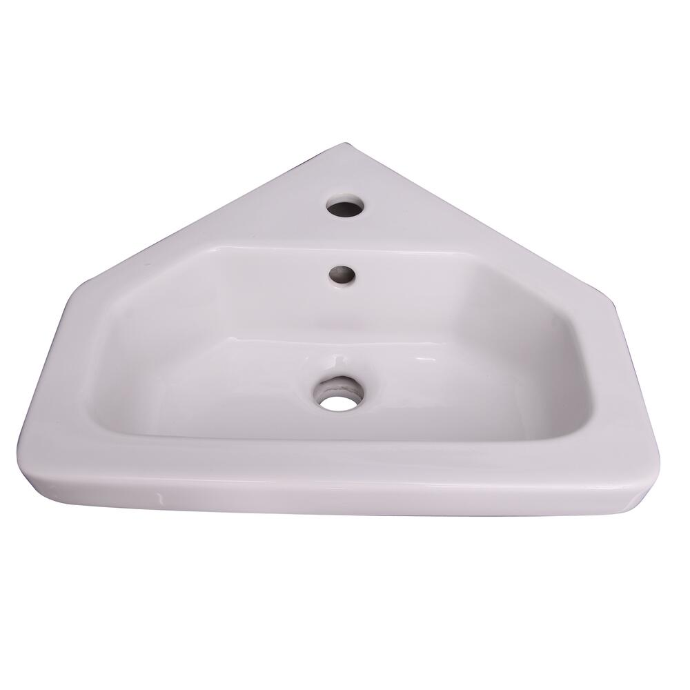 Barclay Resort 17 3 4 W X 15 3 4 D White Corner Bathroom Pedestal Sink At Menards