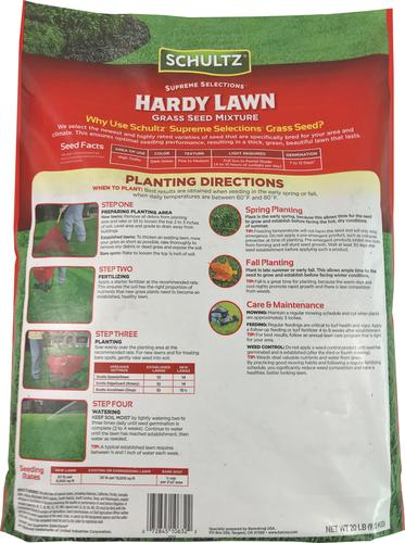 Schultz Hardy Lawn Grass Seed Mixture At Menards