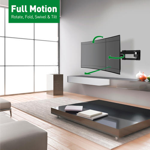 Barkan Full Motion Tv Wall Mount For Curved Flat 40 90