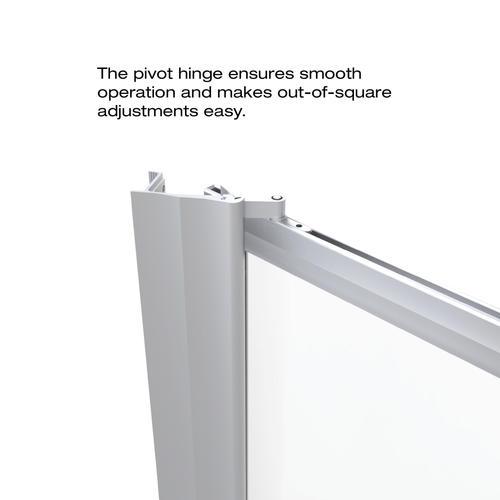 Basco Sopora 31 3 8 Quot W X 63 1 2 Quot H Framed Pivot Shower Door