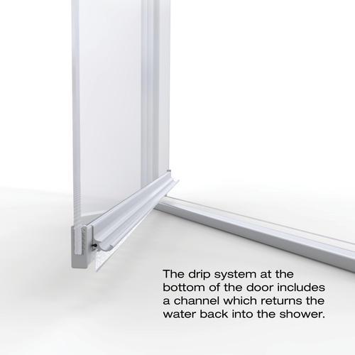 Basco Armon 28 1 8 W X 66 H Semi Frameless Pivot Shower Door At Menards