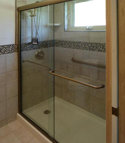 Celesta Semi-Frameless Sliding Shower Door,Fits 44-48 inch opening ...