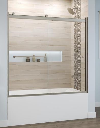 Basco Rotolo 60 W X 57 H Semi Frameless Sliding Bathtub Shower Door At Menards