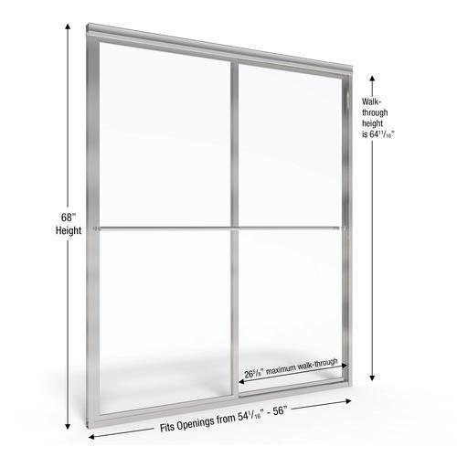 Basco Deluxe 56 Quot W X 68 Quot H Framed Sliding Shower Door At