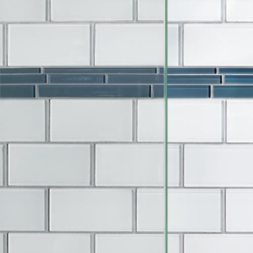 "Basco Coppia 35-9/16""W x 76""H Chrome Frameless Hinged Shower Door with Clear Glass"